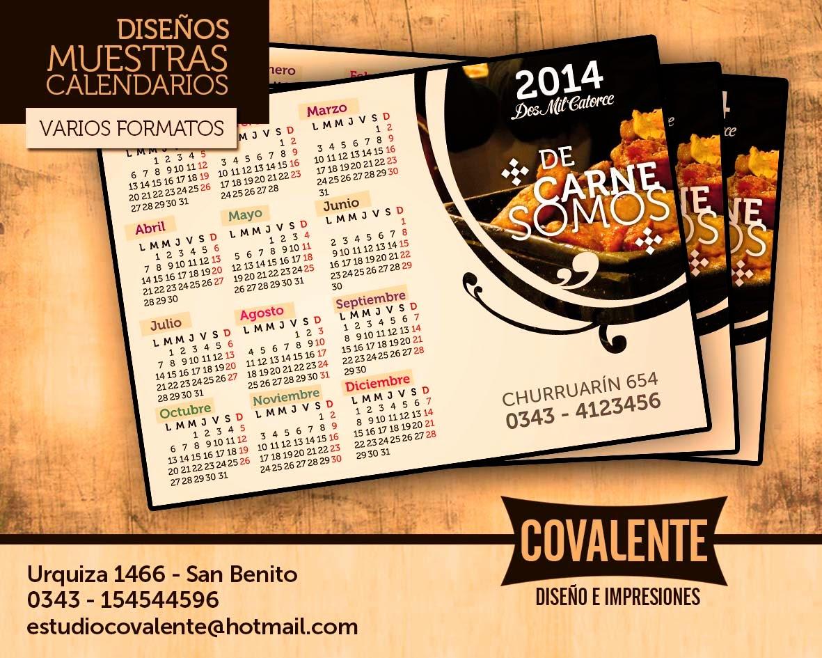 Covalente muestras de dise o para calendarios - Disenos de calendarios ...