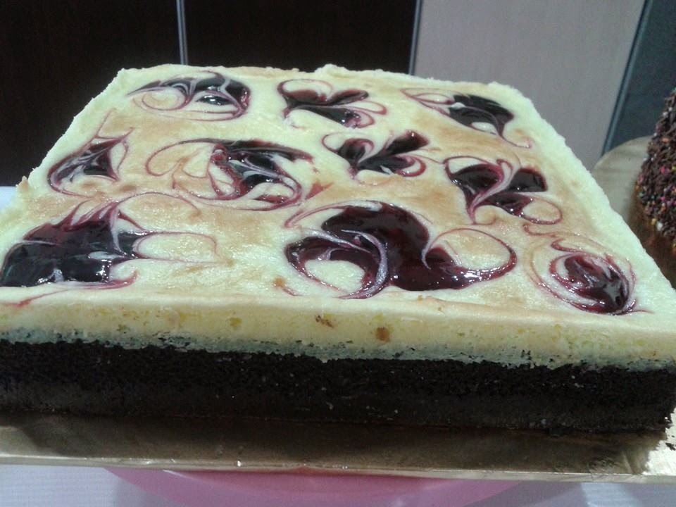 Brownies Cheese Blueberry Cake