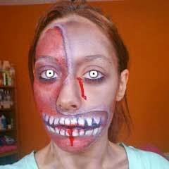 maquillaje de zombie para halloween por marta rodriguez