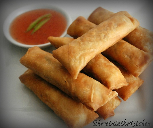 Shweta in the Kitchen: Vegetable Spring Rolls
