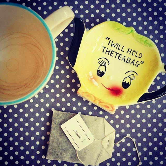 #thriftscorethursday Week 20 | Instagram user: triedandtrueblog shows off this tea bag holder plate.