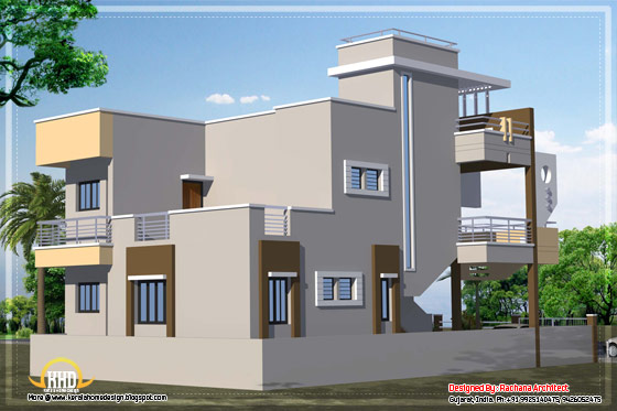 Contemporary india house plan 2185 sq ft India house plans