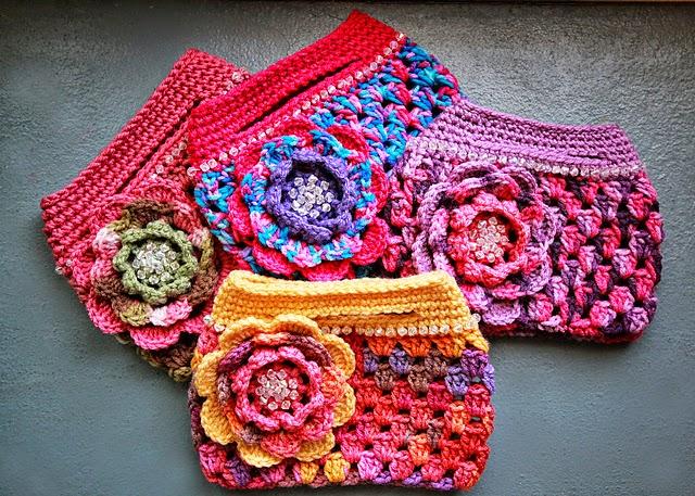 ideas carteras para nenas al crochet crochet y dos