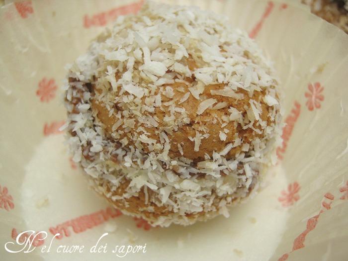 Torta con pasta sfoglia nutella e cocco