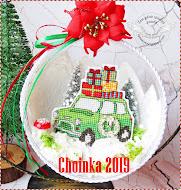 Choinka 2019 - wyhaftowałam 27 zawieszek:)