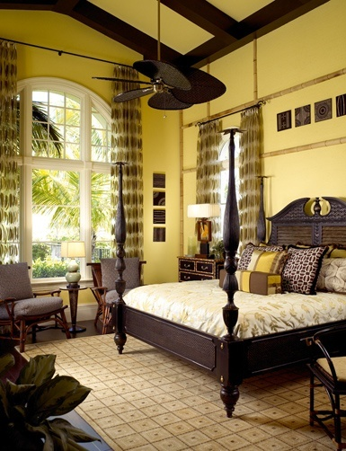 Eye for design tropical british colonial interiors for Exotic bedroom decor