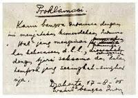 Seputar Penyimpangan Teks Proklamasi RI