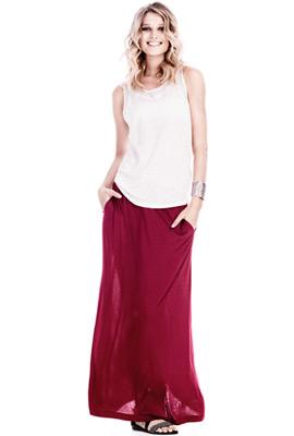 falda larga primavera verano 2013 H&M