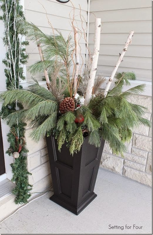 tall-porch-planter-greenery-birch