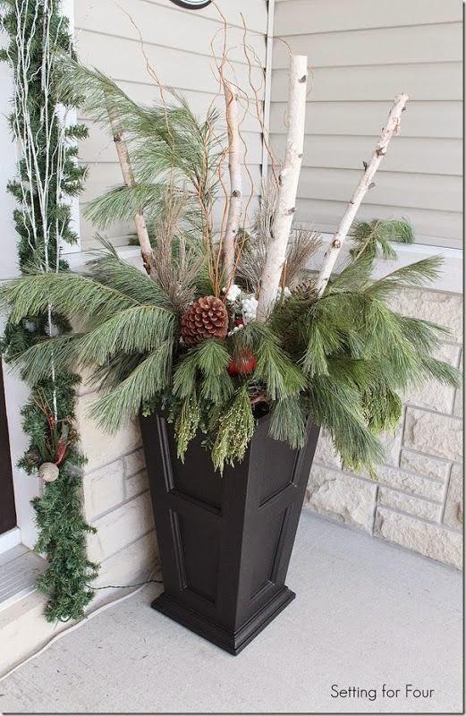 tall-porch-planter-greenery-birch