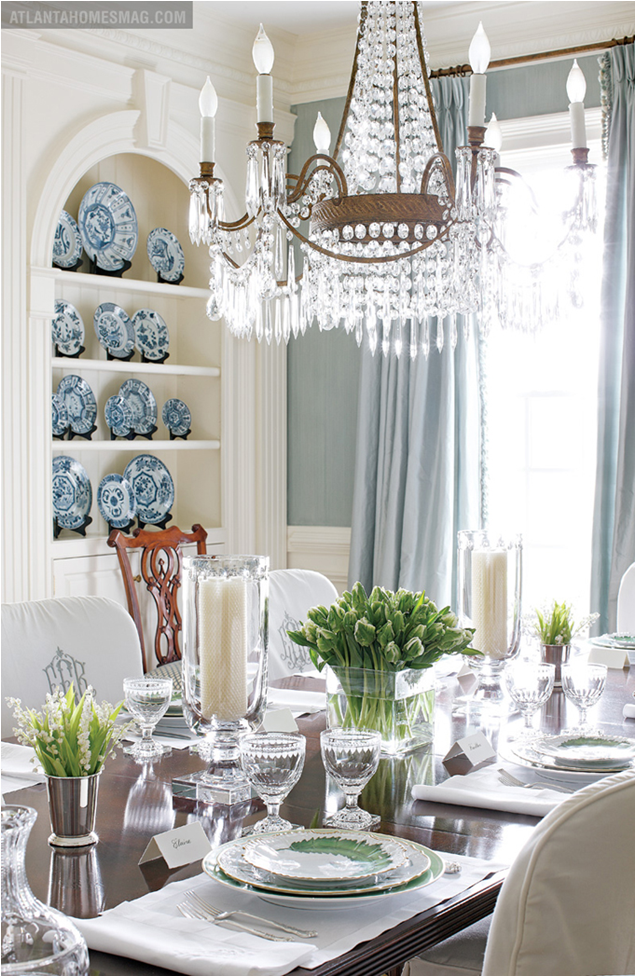 Blue and green dining room room design inspirations for Green dining room