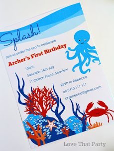 Under the Sea Invitation