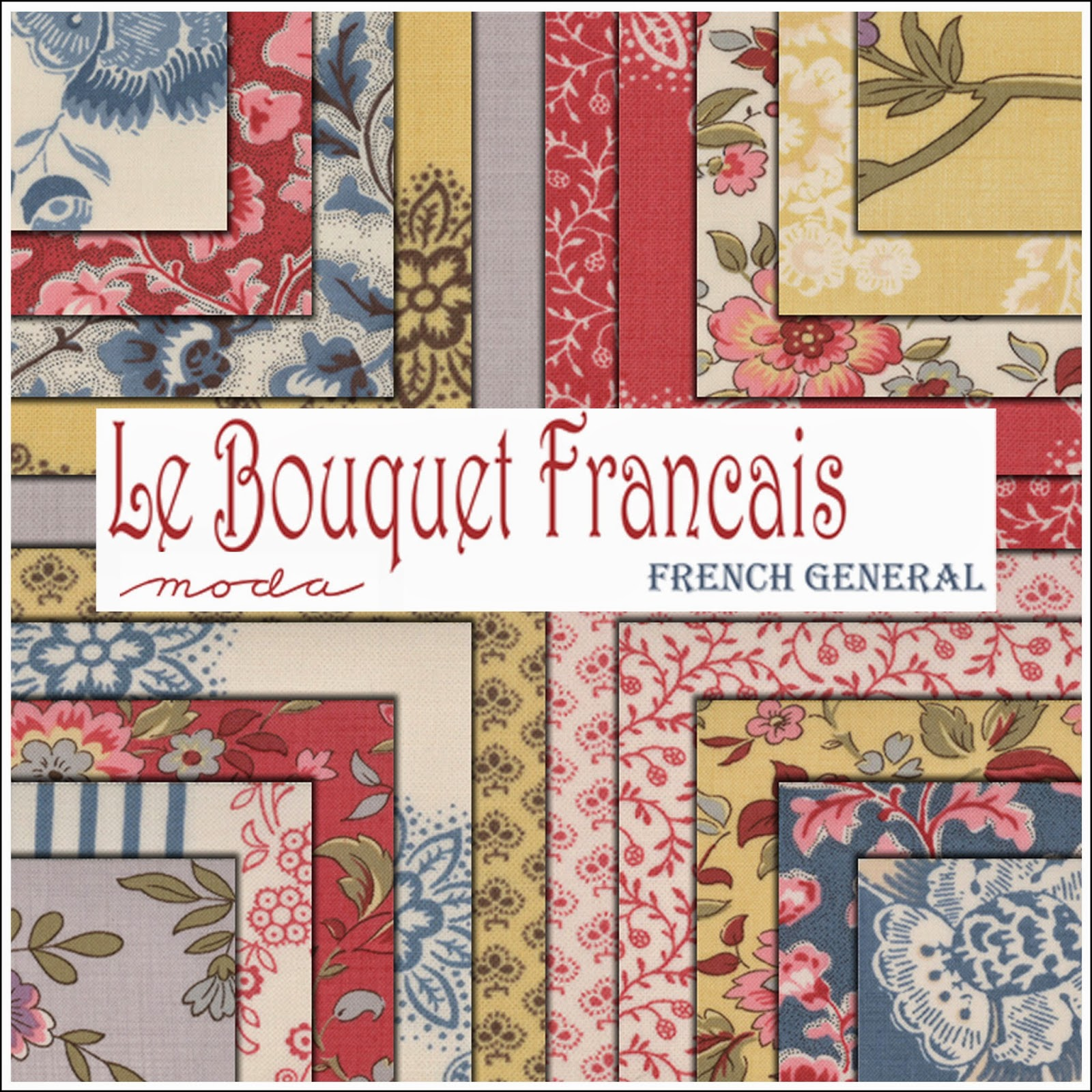 Moda LE BOUQUET FRANCAIS Quilt Fabric by French General