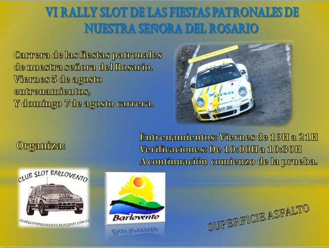 Domingo 7, Rally slot en Barlovento.