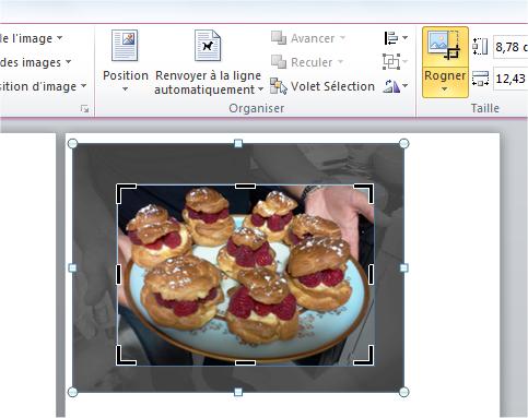 capture d'écran Word - rogner une image