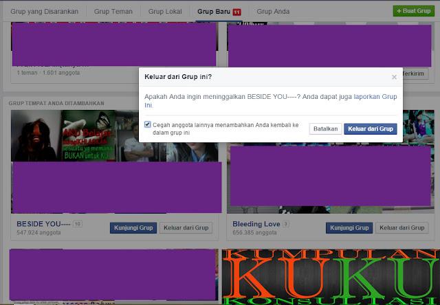 cara agar tidak dimasukkan lagi ke group tidak jelas di facebook