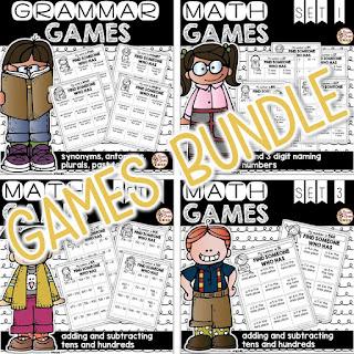 https://www.teacherspayteachers.com/Product/Math-and-Grammar-Games-Grammar-and-Place-Value-Bundle-1912715