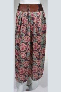 Rok Flower RF 012 - Coklat Ungu (Toko Jilbab dan Busana Muslimah Terbaru)
