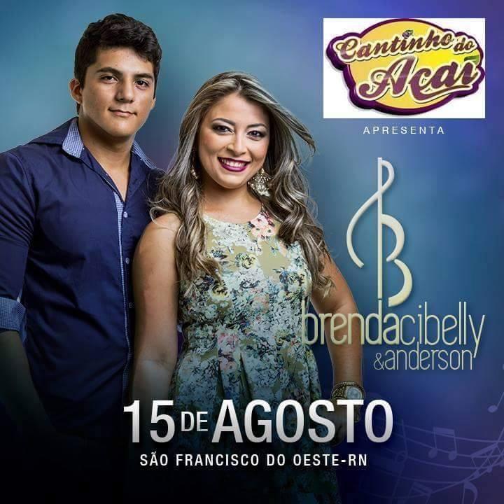 Cantinho do Açaí apresenta neste dia 15 de Agosto Brenda Cibelly & Anderson.