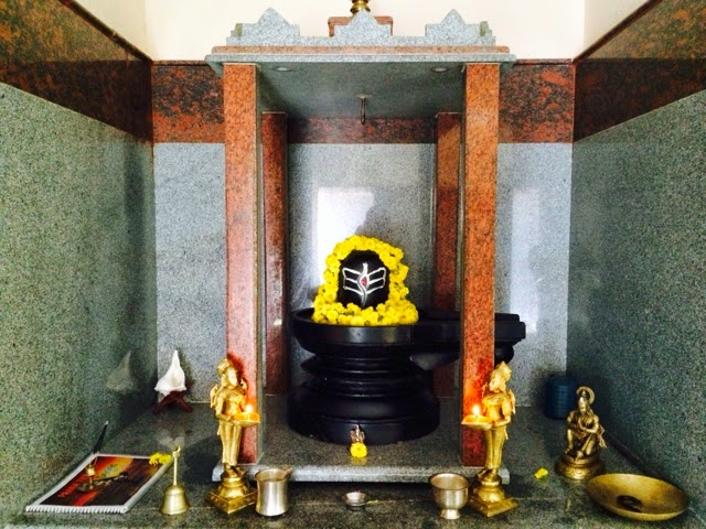 Shiva Lingam in the yoga shala