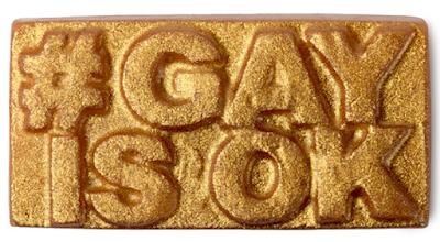 Lush savon Amour #GayIsOk égalité droits homosexuels LGBT