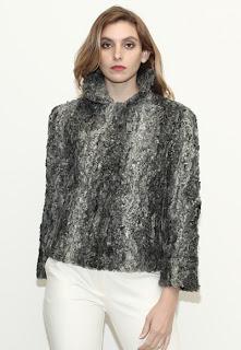 Vintage 1960's grey Persian Lamb fur coat.