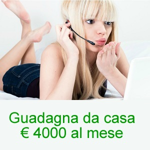guadagna da casa € 4000 al mese