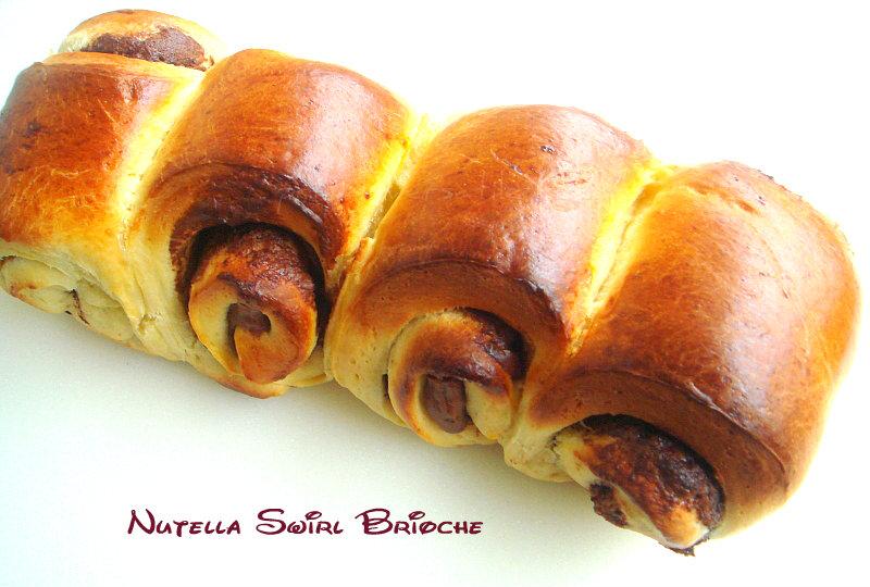 Priya's Versatile Recipes: Nutella Swirl Brioche