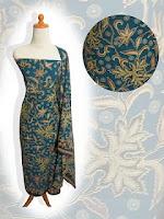 gaun batik modern
