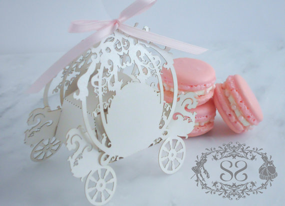 Cinderella Carriage Favor Boxes : Unxia cinderella carriage favor box