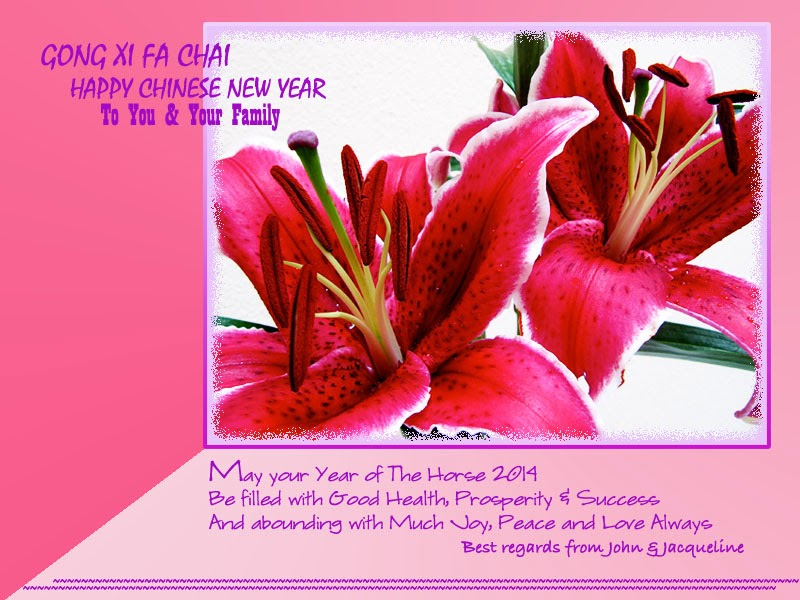 2014 Chinese New Year greeting card