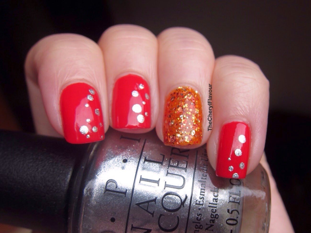 Coca Cola Inspired Nail Art