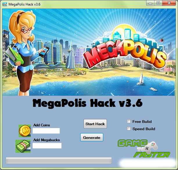 Megapolis Hack – Cheats – Trainer v3.6 - 2013