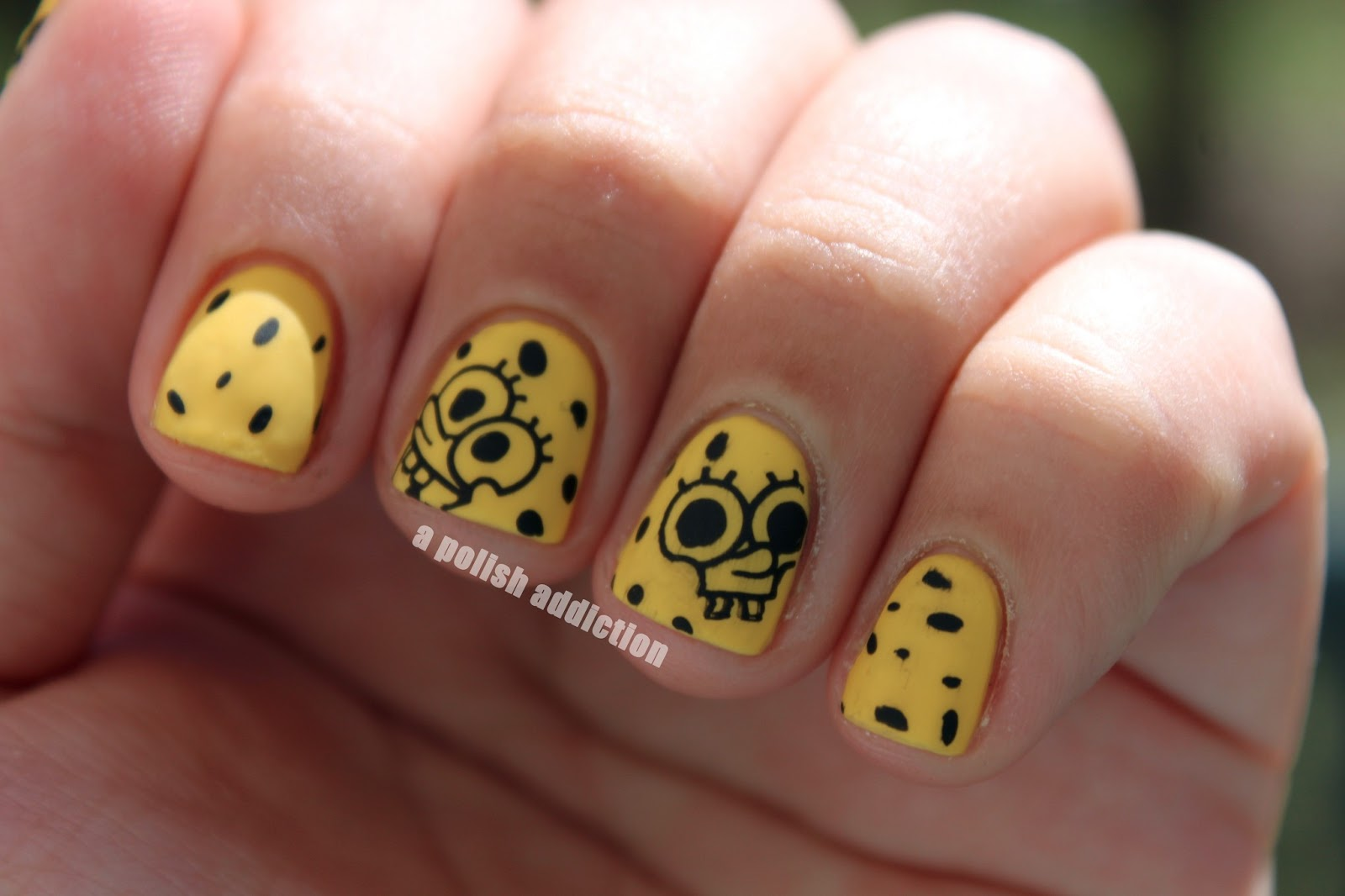 Spongebob nail art designs gallery nail art and nail design ideas spongebob nail art image collections nail art and nail design ideas a polish addiction who lives prinsesfo Image collections