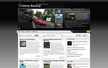 Johny Backup Blogger Template