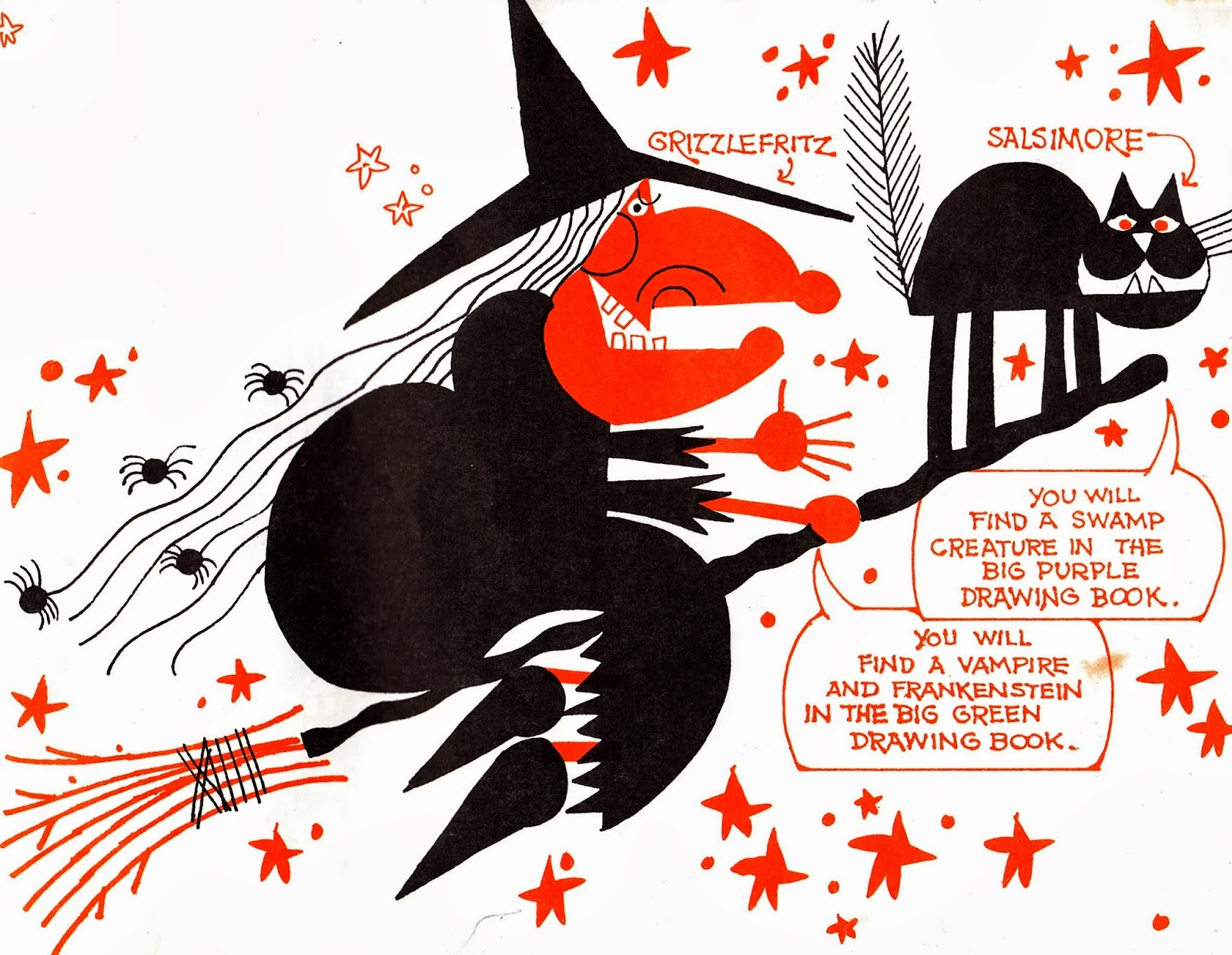 """mixed-up monster club: how to draw a witch from """"ed emberley's"""