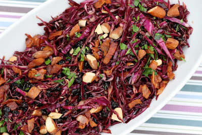 Red Cabbage Salad with Bacon-Balsamic Dressing