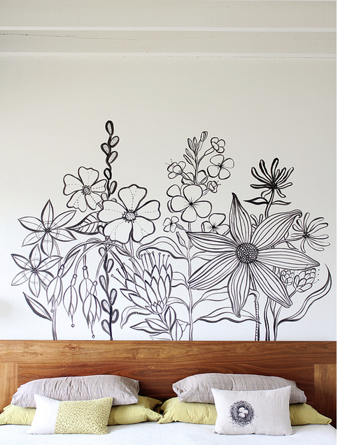 Inspiration wall mural by geninne zlatkis poppytalk for Mural inspiration