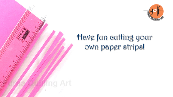Purna quilling paper art how to make your own quilling strips for How to make your own quilling paper