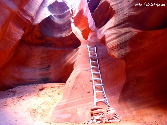 Waterholes Canyon, Page, Arizona, ultramarathon, ladder, slot canyon