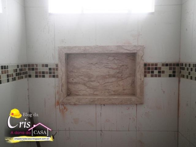 Cris  A Dona da Casa! Nicho dos Banheiros  Passo a Passo -> Nicho Banheiro Parede Estrutural