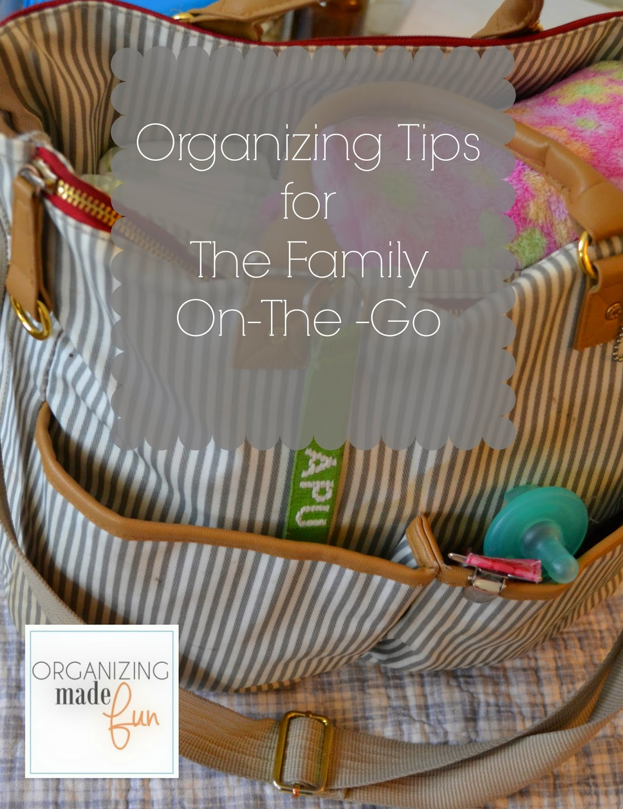 Organizing for families on the run - when you're so busy you don't know what to do :: OrganizingMadeFun.com