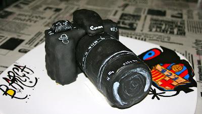 Tarta modelada con fondant camara de fotos Canon