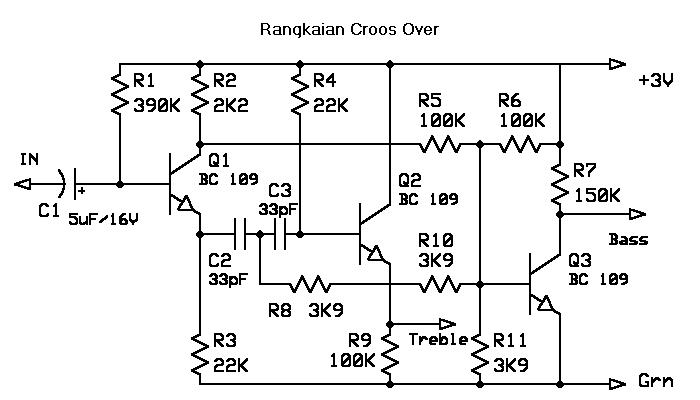 schematic circuit electronics  simple active crossover