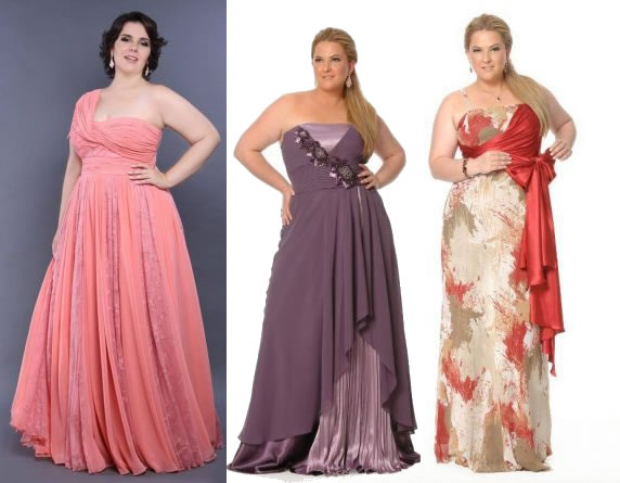 para as gordinhas na hora de escolher os vestidos para madrinhas de