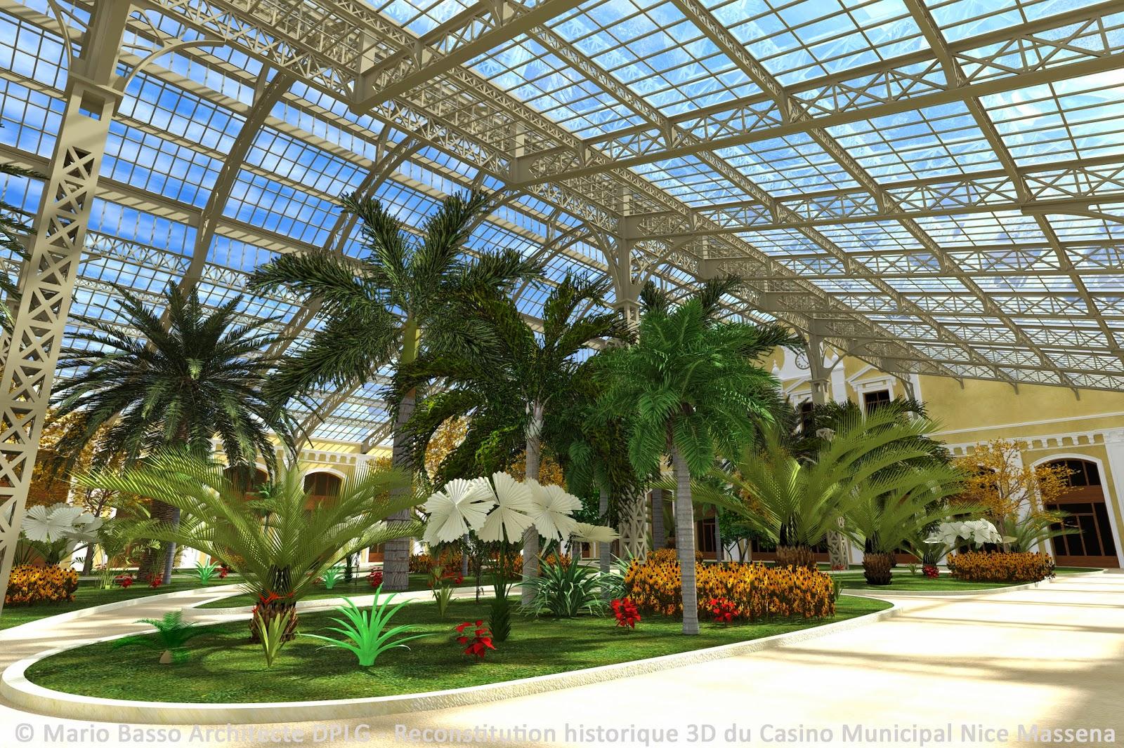 Casino municipal nice massena en 3d vues du jardin d 39 hiver - Terrasse jardin municipal nice ...