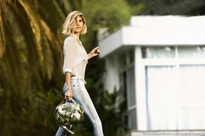 Vitamina primavera verano 2015. Moda jeans verano 2015.