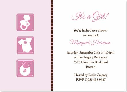 baby girl images for baby shower. Baby Girl Icons Baby Shower Invitations