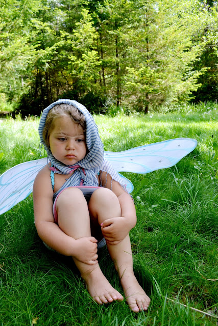 field, nature, dress up, fairy, kid