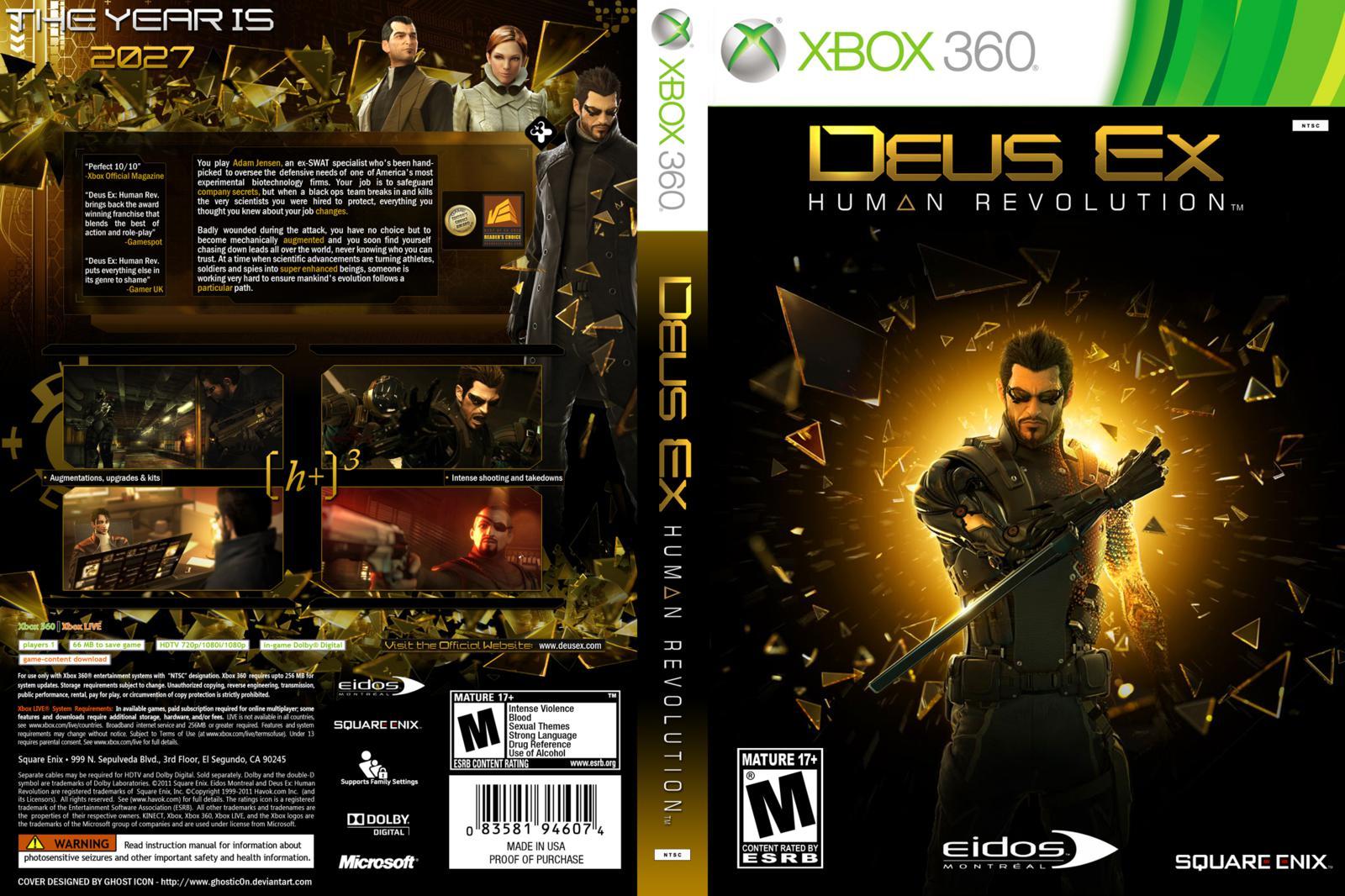Capa Deus Ex Human Revolution Xbox 360